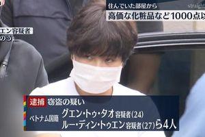 Nhật bắt 4 người Việt nghi đánh cắp 1.000 món mỹ phẩm
