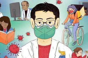 Cuốn sách về bác sĩ Lý Văn Lượng dạy trẻ em sự dũng cảm