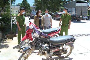 Thanh Hóa: Bắt giữ cặp vợ chồng đi trộm cắp xe máy