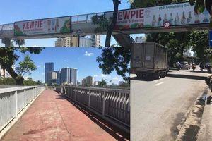 Hàng loạt cầu vượt bộ hành ở Hà Nội không phát huy tác dụng