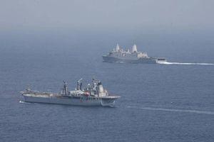 Hải quân Ấn Độ điều tàu khu trục tham gia tập trận chung với 3 nước châu Âu