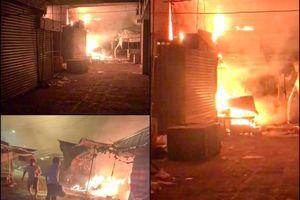 Cháy chợ Long Mỹ thiệt hại khoảng 900 triệu đồng