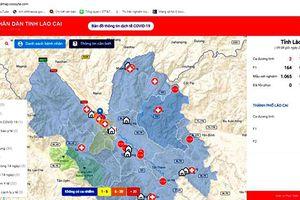Lào Cai đưa bản đồ thông tin dịch Covid-19 lên internet