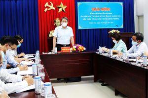 Ông Nguyễn Hải Ninh - Ủy viên Trung ương Đảng, Bí thư Tỉnh ủy làm việc với Sở Công Thương