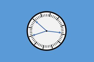 Xác định thời gian bằng chiếc đồng hồ mất số
