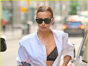 'Mẹ đơn thân' Irina Shayk buông áo hờ hững, khoe body nóng bỏng trên phố