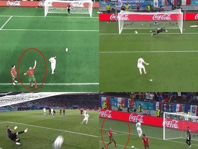Khi tiền đạo Benzema chuẩn bị sút phạt đền, Pepe bí mật ra dấu hiệu cho thủ môn Rui Patricio bắt bài. Tiếc là Benzema đá ngay hướng chỉ nhưng thủ môn Patricio lại bay người ngược lại khiến Pepe giận dữ vùng vằng. May mà Bồ Đào Nha cầm hòa Pháp.