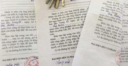 Những biên bản vi phạm vô chủ ở Đồng Than