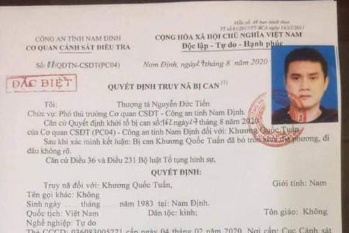 Truy nã đặc biệt đối với cựu cầu thủ bóng đá Nam Định