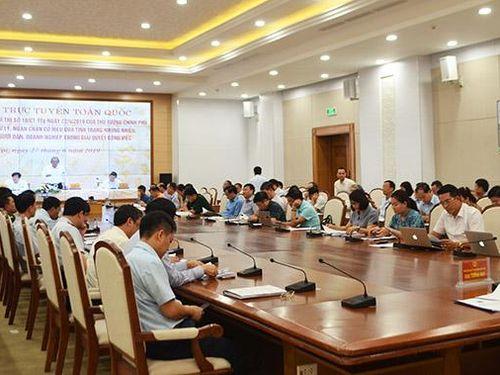Hội nghị trực tuyến toàn quốc về phổ biến, quán triệt Chỉ thị số 10/CT-TTg