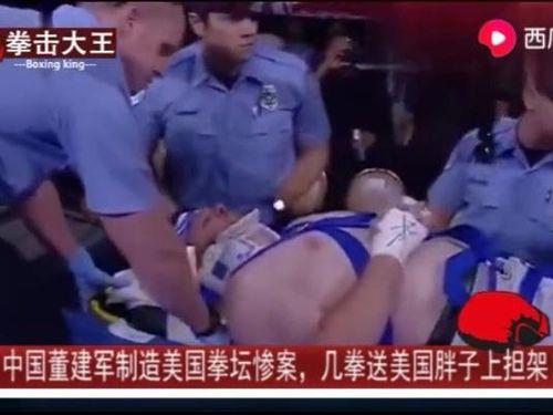 Võ sĩ hạng siêu nặng Trung Quốc đấm gãy cổ võ sĩ Mỹ