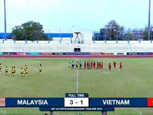 Thua ngược Malaysia, U15 Việt Nam thành cựu vô địch ĐNÁ