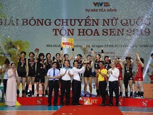 ĐT Việt Nam giành á quân giải bóng chuyền VTV Cup Tôn Hoa Sen 2019
