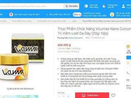 Cảnh báo sản phẩm bảo vệ sức khỏe quảng cáo lừa dối người tiêu dùng trên Tiki