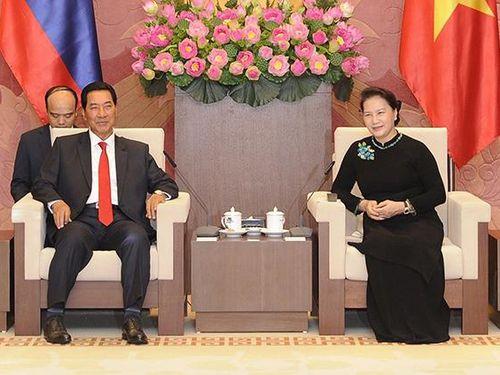 Chủ tịch QH Nguyễn Thị Kim Ngân tiếp Chủ tịch Ủy ban Bảo vệ Cách mạng Cu-ba; Phó Chủ tịch QH Lào
