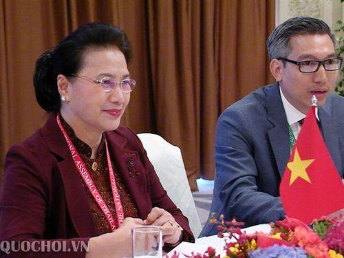 Chủ tịch Quốc hội Nguyễn Thị Kim Ngân hội kiến Chủ tịch Hạ viện maroc