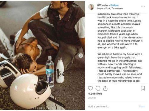 Hot instagramer bị nghi dàn dựng vụ tai nạn để chụp ảnh 'sống ảo'