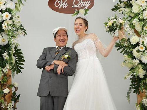 Trường Giang chụp ảnh cưới với mẫu Tây 'cao hơn cái đầu'