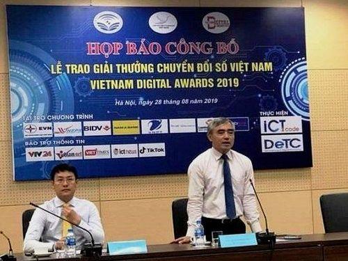 50 đơn vị sẽ được trao Giải thưởng 'Chuyển đổi số Việt Nam' 2019