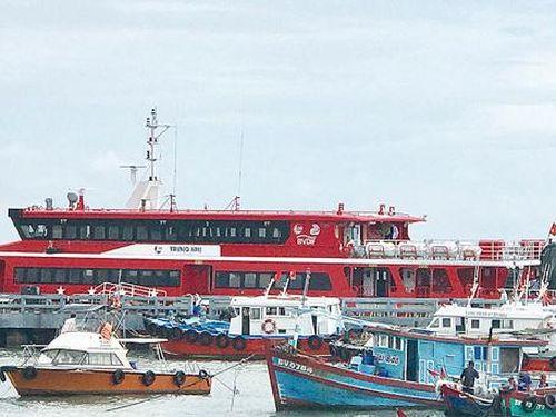 Tàu cao tốc tuyến Vũng Tàu - Côn Đảo ngưng hoạt động do bão số 4