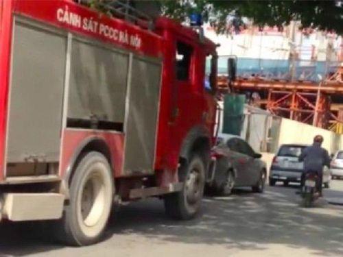 Xác định được chủ ô tô quyết không nhường đường xe cứu hỏa đi chữa cháy