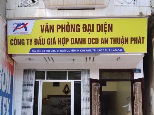 Lào Cai: Dừng phiên đấu giá do Công ty OCD An Thuận Phát thực hiện