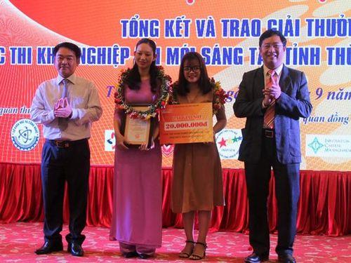 Nhiều dự án, ý tưởng khởi nghiệp xuất sắc được tỉnh Thừa Thiên Huế trao giải