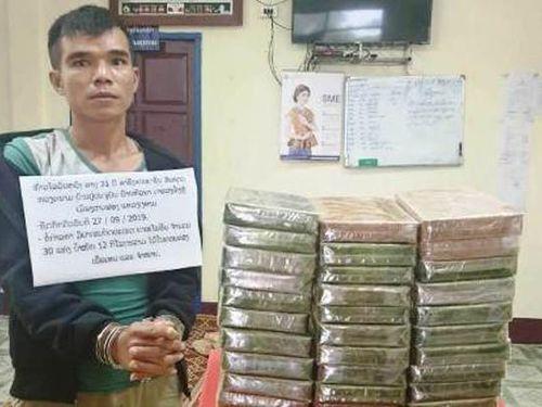 Bắt hai đối tượng vận chuyển 32 bánh heroin