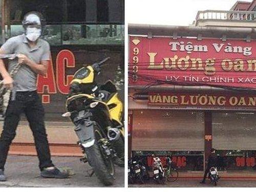 Cận cảnh tên cướp táo tợn nổ súng, cướp tiệm vàng tại Quảng Ninh