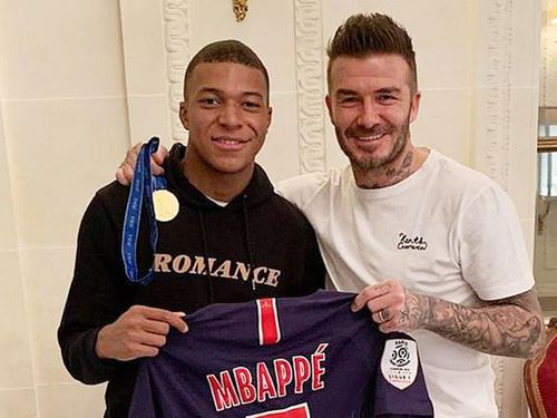 Beckham đánh quả lớn với Kylian Mbappe