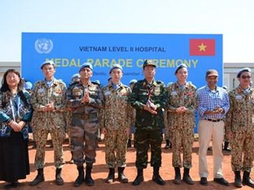 Bệnh viện Dã chiến cấp 2 số 1 của Việt Nam đón nhận Huy chương vì sự nghiệp Gìn giữ hòa bình Liên hợp quốc