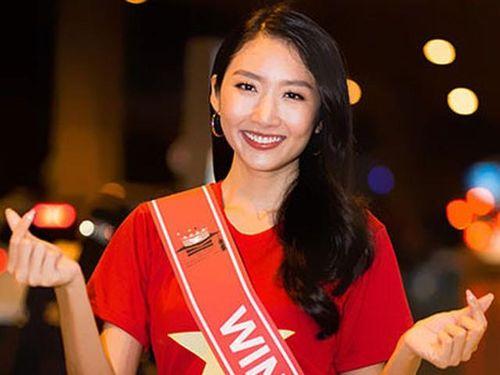 Thanh Khoa giản dị về nước sau đăng quang Hoa hậu Sinh viên Thế giới 2019
