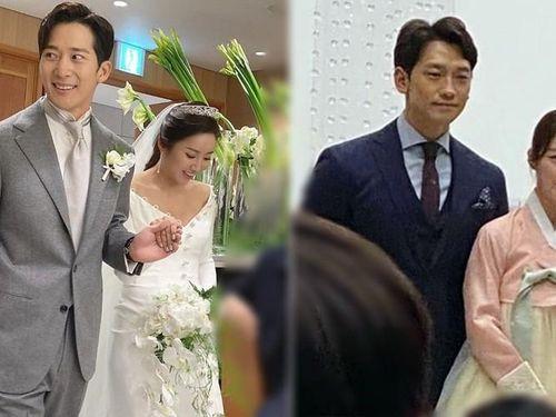 Vợ chồng Bi Rain - Kim Tae Hee sánh đôi tại đám cưới em trai