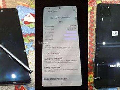 Lộ ảnh thực tế của Galaxy Note10 Lite