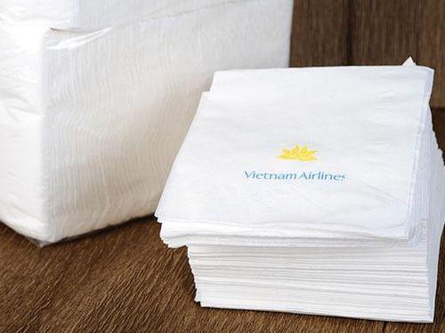 Xưởng sản xuất giấy ăn giả nhãn hiệu Vietnam Airlines