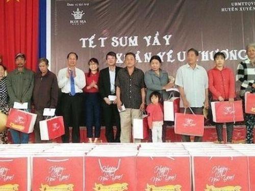 Blue Sea Group trao 400 phần quà Tết tại Xuyên Mộc