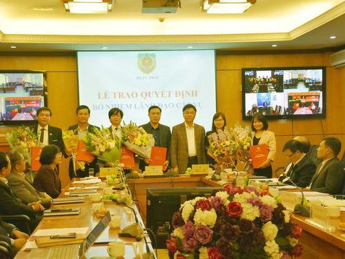 Bộ Tư pháp bổ nhiệm nhiều lãnh đạo cấp vụ