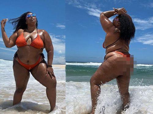 Nàng béo Lizzo tự tin diện bikini hai mảnh, khoe hình thể ngoại cỡ