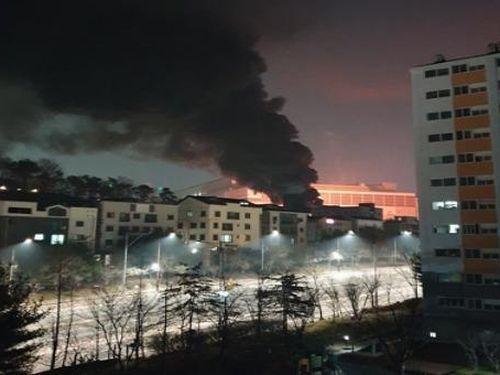 Cháy lớn tại nhà máy bán dẫn Hwaseong của Samsung