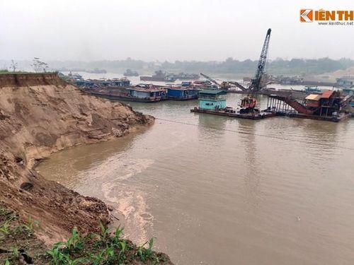 Đất canh tác sạt lở vì doanh nghiệp 'tận hủy' tài nguyên cát trên sông Lô