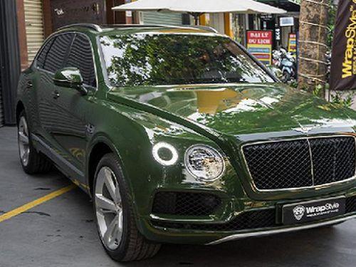 Đại gia Việt chi hàng trăm triệu đồng đổi màu Bentley Bentayga V8