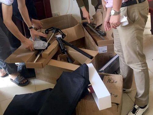 Tịch thu nhiều linh kiện lắp ráp súng hơi