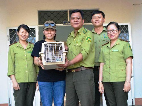 Vượt hơn 1.000 km vào Bình Định cứu hộ cá thể tê tê Java và voọc chà vá chân xám