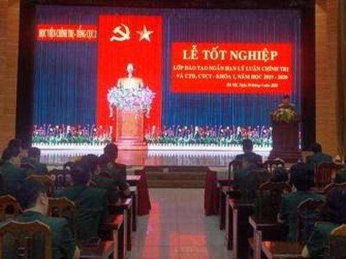 Bế giảng lớp đào tạo ngắn hạn lý luận chính trị và công tác đảng, công tác chính trị