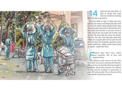 Sắp ra mắt nhật ký bằng tranh 'Con đã về nhà – ký họa cách ly Covid' của du học sinh