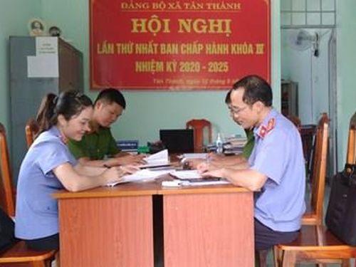 VKSND huyện Krông Nô trực tiếp kiểm sát tại các UBND xã, thị trấn