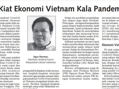 Học giả Indonesia: Ngăn Covid-19 thành công, Việt Nam là quốc gia chiến lược để đầu tư