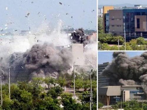 Cận cảnh văn phòng liên lạc với Hàn vừa bị Triều Tiên cho nổ