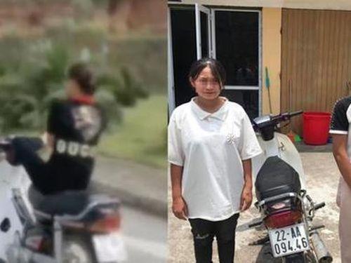 Triệu tập nữ sinh 15 tuổi điều khiển xe máy bằng chân ở Tuyên Quang