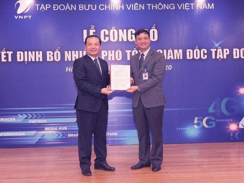 Tập đoàn VNPT có 2 Phó Tổng giám đốc mới